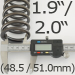 1.9/2.0 Inch ID Helper Springs