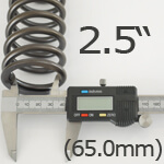 2.5 Inch ID Helper Springs