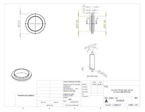 Helper Spring Seat Specification Drawing 2.25