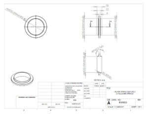 Helper Spring Seat Specification Drawing 2.5